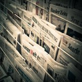 Newspapers on stands